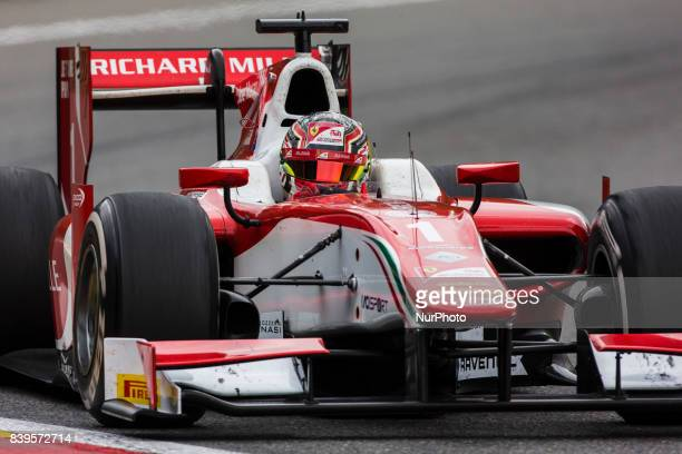 Charles from Monaco of Prema Racing during the Race 1 of the FIA Formula 2championship at Circuit de SpaFrancorchamps on August 26 2017 in Spa Belgium