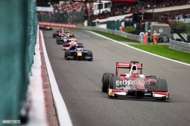 Charles from Monaco of Prema Racing leading the race during the Race 1 of the FIA Formula 2championship at Circuit de SpaFrancorchamps on August 26...