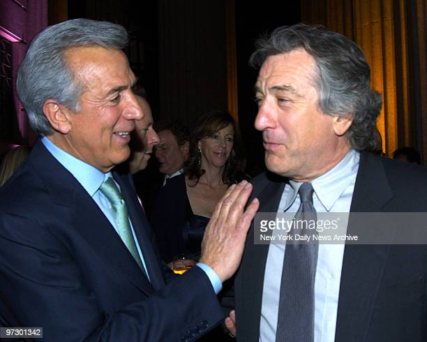 Charles Gargano and Robert DeNiro at the Vanity Fair Party held at The State Supreme Courthouse celebrating the 2005 Tribeca Film Festival