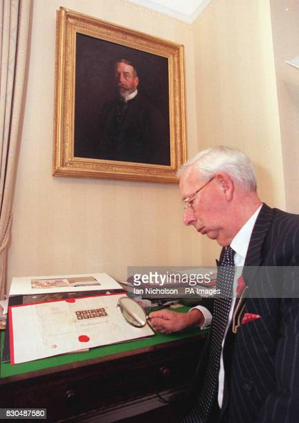 Charles Goodwyn Keeper of the Royal Philatelic Collection at St James's Palace in London which is to acquire a first day cover bearing ten copies of...