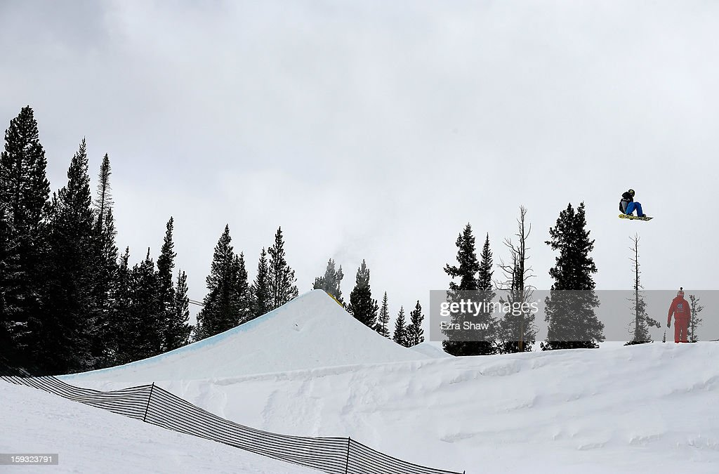Charles Guldemond competes in the FIS Snowboard Slope Style World Cup finals at the US Grand Prix on January 11, 2013 in Copper Mountain, Colorado. Guldemond won the event.