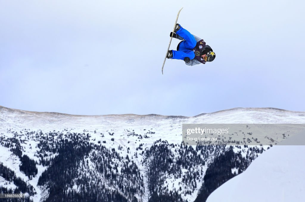 Charles Guldemond of the USA soars to first place in the men's FIS Snowboard Slope Style World Cup at the US Grand Prix on January 11, 2013 in Copper Mountain, Colorado.
