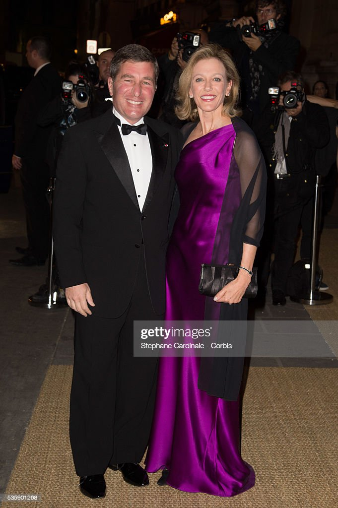 Charles H. Rivkin and Susan Tolson arrive at a Ralph Lauren Collection Show and private dinner at Les Beaux-Arts de Paris on October 8, 2013 in Paris, France. On this occasion Ralph Lauren celebrates the restoration project and patron sponsorship of 'L'Ecole des Beaux-Arts'.