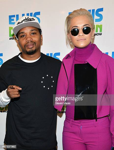 Charles Hamilton and Rita Ora visit 'The Elvis Duran Z100 Morning Show' at Z100 Studio on March 23 2015 in New York City