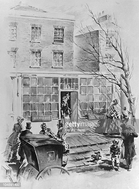 Charles Henry Harrod Harrod's grocery shop at its new premises in Knightsbridge London 1849