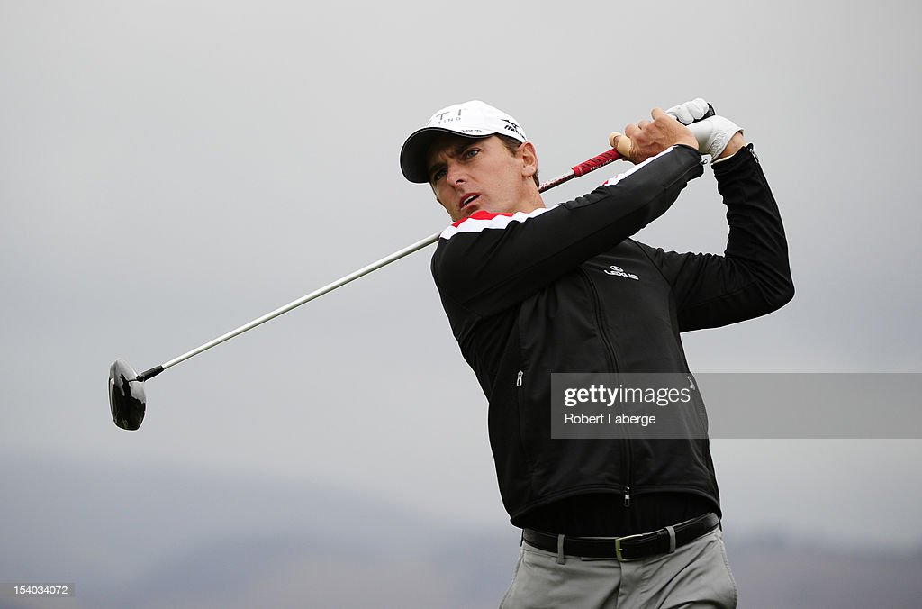 <a gi-track='captionPersonalityLinkClicked' href=/galleries/search?phrase=Charles+Howell+III&family=editorial&specificpeople=212774 ng-click='$event.stopPropagation()'>Charles Howell III</a> makes a tee shot on the second hole during round two of the Frys.com Open at the CordeValle Golf Club on October 12, 2012 in San Martin, California.