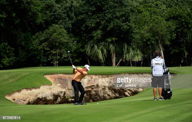 Charles Howell III of the United States plays a shot on the seventh hole during the second round of the OHL Classic at Mayakoba on November 10 2017...