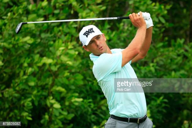Charles Howell III of the United States plays his shot from the 17th tee during the final round of the OHL Classic at Mayakoba on November 12 2017 in...