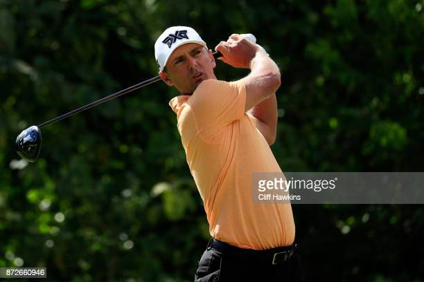 Charles Howell III of the United States plays his shot from the seventh tee during the second round of the OHL Classic at Mayakoba on November 10...