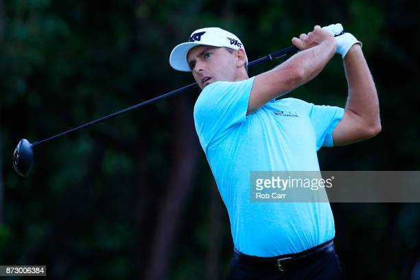 Charles Howell III of the United States plays his shot from the seventh tee during the third round of the OHL Classic at Mayakoba on November 11 2017...