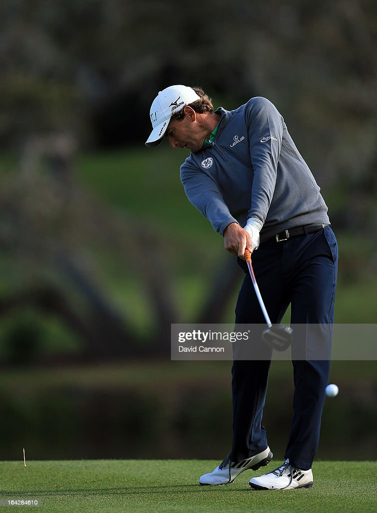 <a gi-track='captionPersonalityLinkClicked' href=/galleries/search?phrase=Charles+Howell+III&family=editorial&specificpeople=212774 ng-click='$event.stopPropagation()'>Charles Howell III</a> of the United States plays his tee shot at the par 5, 16th hole during the second round of the 2013 Arnold Palmer Invitational Presented by Mastercard at Bay Hill Golf and Country Club on March 22, 2013 in Orlando, Florida.