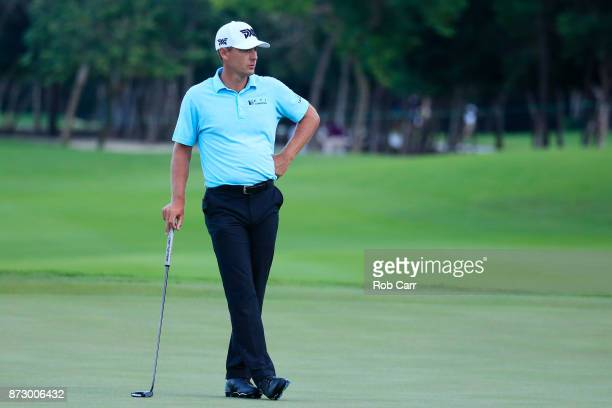 Charles Howell III of the United States stands on the sixth green during the third round of the OHL Classic at Mayakoba on November 11 2017 in Playa...