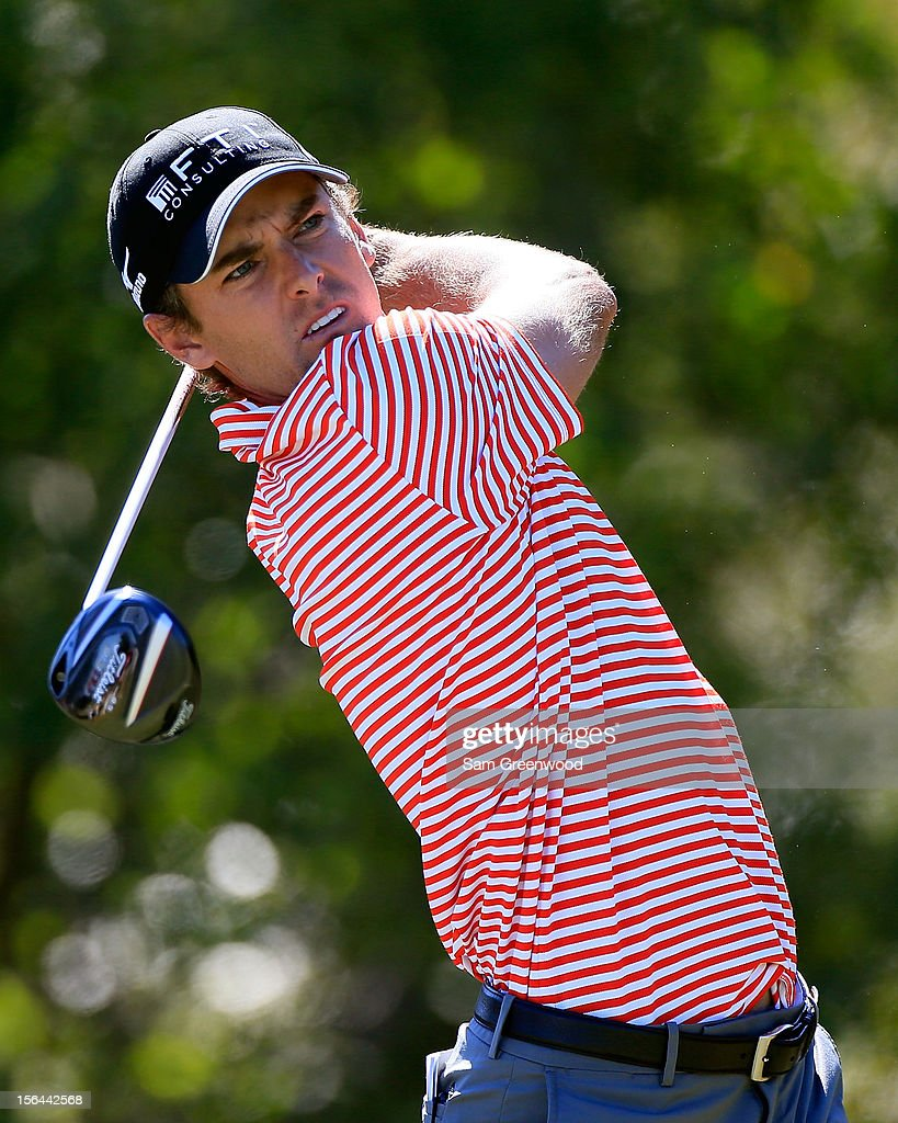 <a gi-track='captionPersonalityLinkClicked' href=/galleries/search?phrase=Charles+Howell+III&family=editorial&specificpeople=212774 ng-click='$event.stopPropagation()'>Charles Howell III</a> plays a shot during the third round of the Children's Miracle Network Hospitals Classic at the Disney Magnolia course on November 10, 2012 in Lake Buena Vista, Florida.