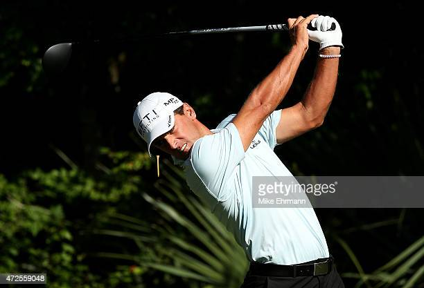 Charles Howell III plays his shot from the fifth tee during round two of THE PLAYERS Championship at the TPC Sawgrass Stadium course on May 8 2015 in...
