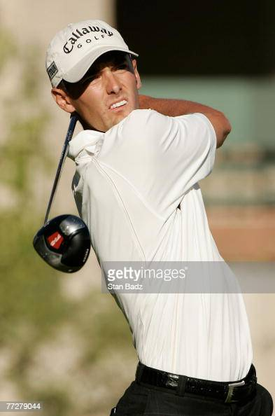 Charles Howell III watches his tee shot during the first round of the Fryscom Open benefiting Shriners Hospitals for Children at TPC Canyons on...