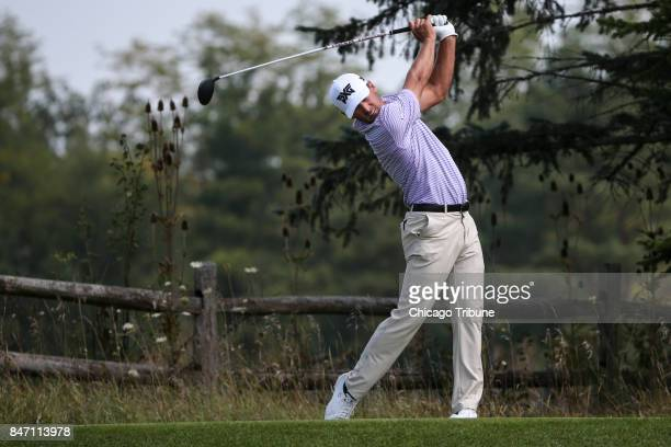 Charles Howell tees off from the 12th hole during the first round of the BMW Championship on Thursday Sept 14 at Conway Farms Golf Club in Lake...