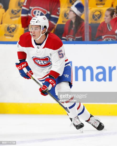 Charles Hudon of the Montreal Canadiens before the game against the Buffalo Sabres at the KeyBank Center on October 5 2017 in Buffalo New York