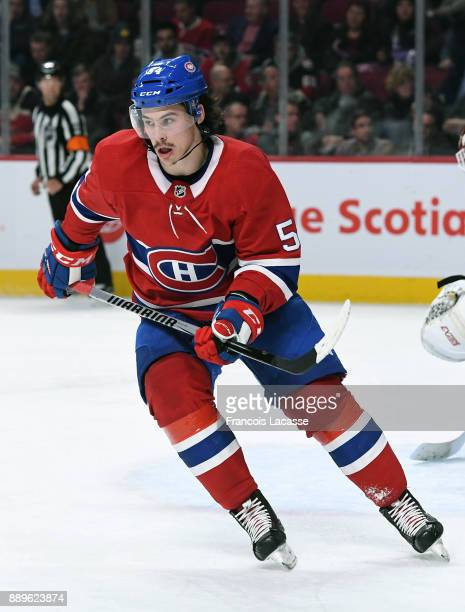 Charles Hudon of the Montreal Canadiens skates against the Ottawa Senators in the NHL game at the Bell Centre on November 29 2017 in Montreal Quebec...