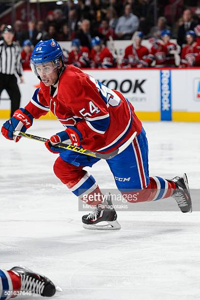 Charles Hudon of the Montreal Canadiens skates during the NHL game against the Ottawa Senators at the Bell Centre on December 12 2015 in Montreal...