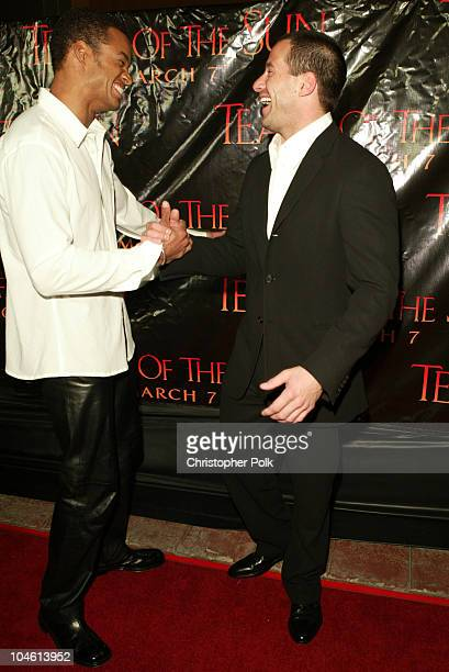Charles Ingram and Johnny Messner during 'Tears Of The Sun' Special Screening Arrivals at Mann's Village in Westwood CA United States