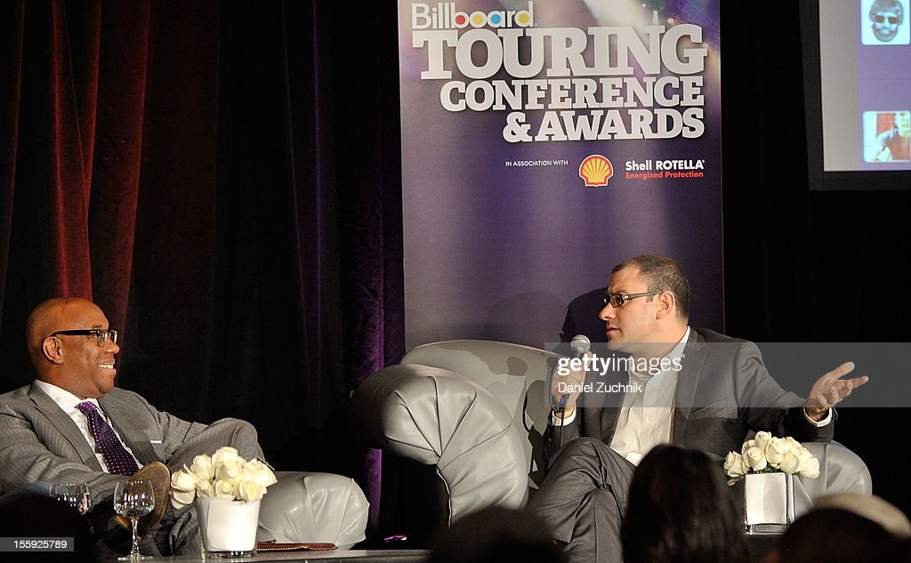 Charles J. Johnson and Bill Werde attend the 2012 Billboard Touring Conference & Awards Keynote Address at Roosevelt Hotel on November 8, 2012 in New York City.