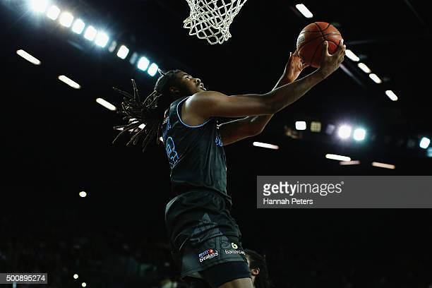 Charles Jackson of the Breakers lays the ball up during the round 10 NBL match between the New Zealand Breakers and the Sydney Kings at Vector Arena...