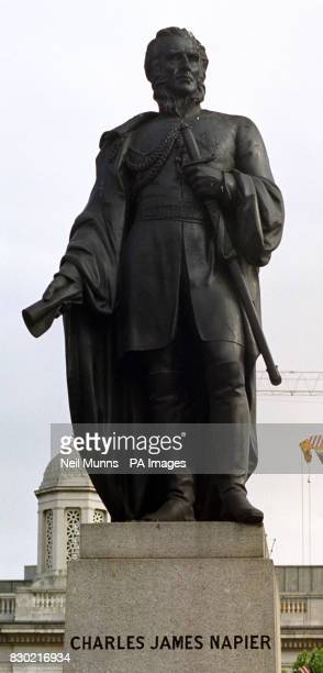 Charles James Napier one of the three permanent statues in Trafalgar Square British artist Mark Wallinger unveiled his statue Ecce Homo a...