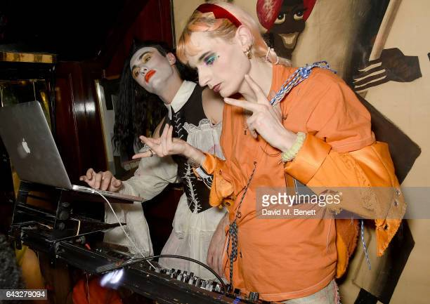 Charles Jeffrey and Matty Bovan at the LOVE and Burberry London Fashion Week Party at Annabel's celebrating Katie Grand and Kendall Jenner's...