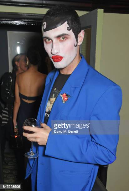 Charles Jeffrey attends Fiorucci The Resurrection LFW Party supported by Martini at L'Escargot on September 15 2017 in London England
