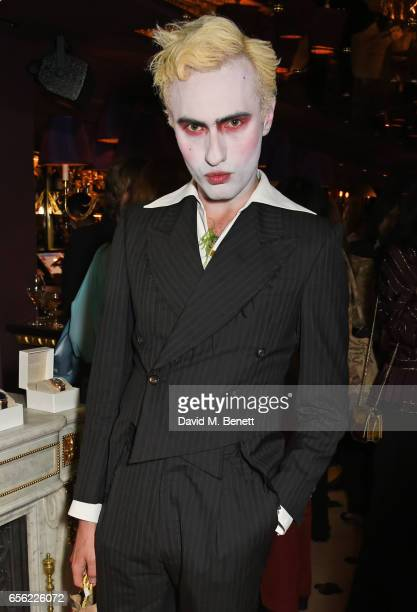 Charles Jeffrey attends the Another Man Spring/Summer Issue launch dinner in association with Kronaby at Park Chinois on March 21 2017 in London...