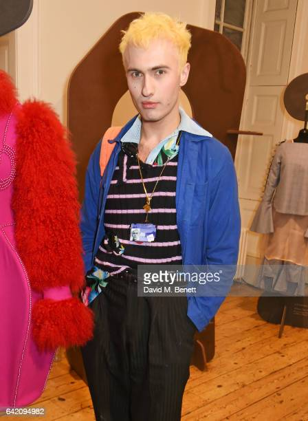 Charles Jeffrey attends the launch of the LFW International Fashion Showcase 2017 in the West Wing Galleries at Somerset House on February 16 2017 in...