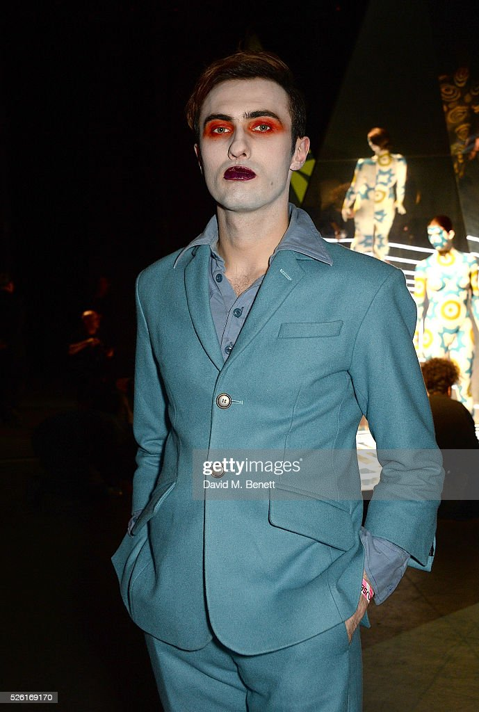 Charles Jeffrey attends the MAC Pro to Pro Textile Party at London's Camden Roundhouse on April 29, 2016 in London, England.