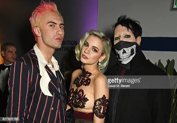 Charles Jeffrey Nikita Andrianova and Marilyn Manson attend The Fashion Awards 2016 after party hosted by The British Fashion Council at 180 The...