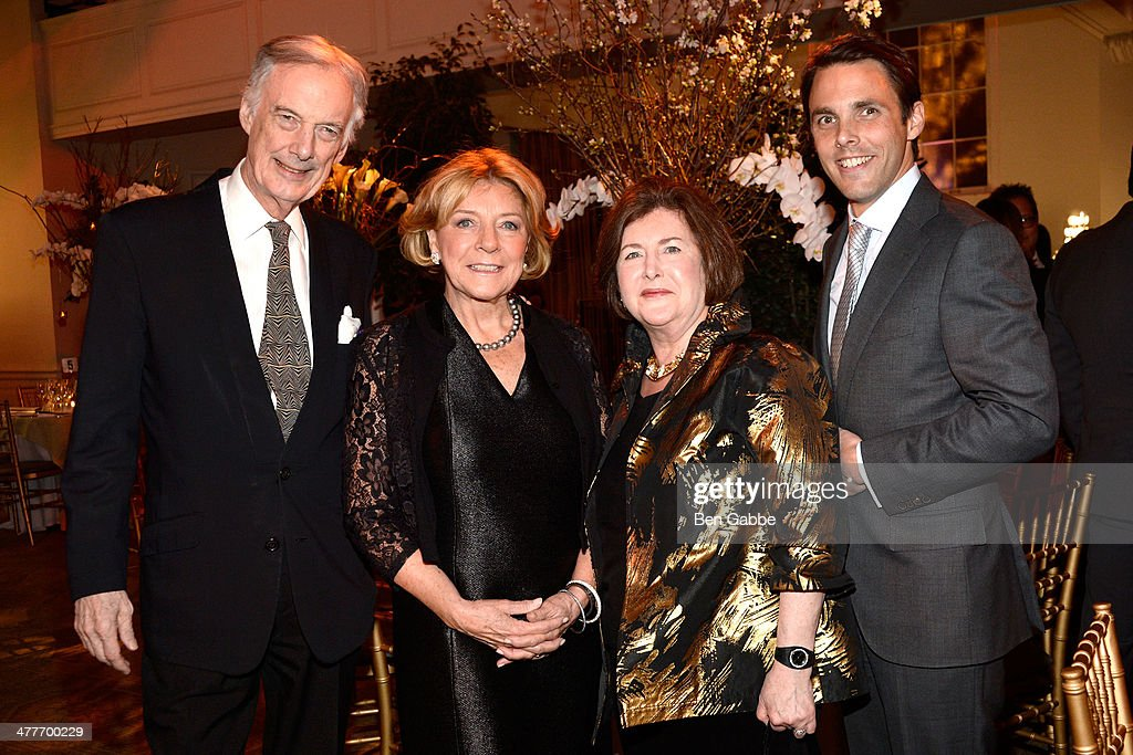 Charles Jencks, Mariette Himes Gomez, Patricia Sovern and David Sprouls attend the New York School Of Interior Design 2014 Benefit Dinner at 583 Park Avenue on March 10, 2014 in New York City.