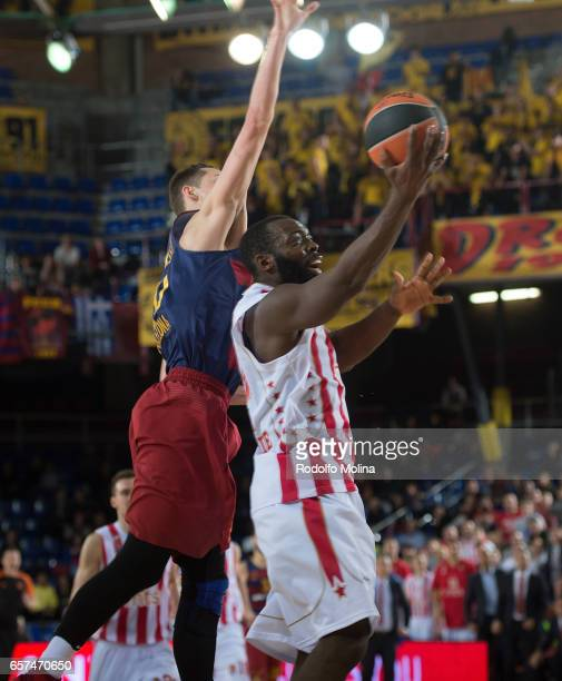 Charles Jenkins #22 of Crvena Zvezda mts Belgrade in action during the 2016/2017 Turkish Airlines EuroLeague Regular Season Round 28 game between FC...