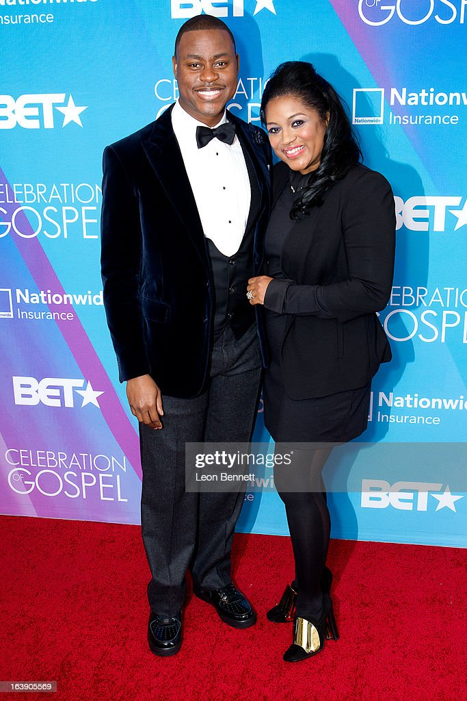 Charles Jenkins and Tara Jenkins arrives at the BET Network's 13th Annual 'Celebration of Gospel' at Orpheum Theatre on March 16, 2013 in Los Angeles, California.