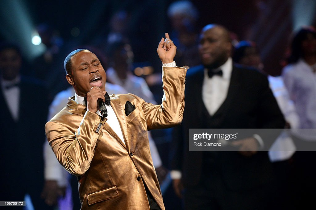 Charles Jenkins Fellowship Chicago perform on the 28th Annual Stellar Awards Show at Grand Ole Opry House on January 19 2013 in Nashville Tennessee