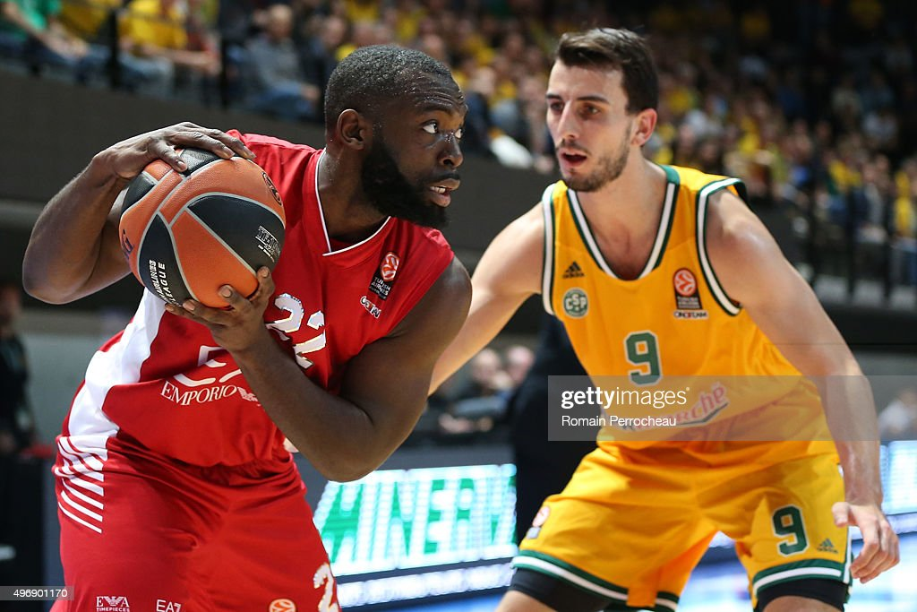 Charles Jenkins for EA7 Emporio Armani Milan in action during the Turkish Airlines Euroleague regular season date 5 game between CSP Limoges and EA7...