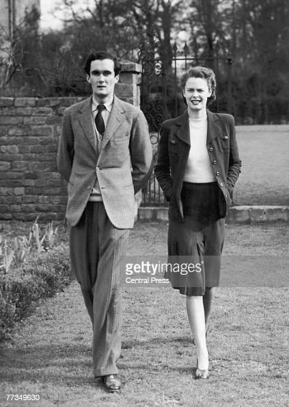 Charles John Robert Manners 10th Duke of Rutland with the Duchess former model Anne Cumming Bell 1946