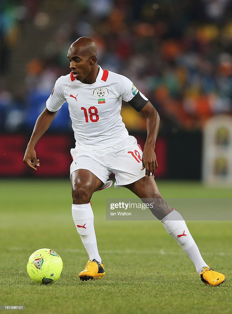 Charles Kabore of Burkina Faso during the 2013 Africa Cup of Nations Final match between Nigeria and Burkina Faso at FNB Stadium on February 10, 2013 in Johannesburg, South Africa.