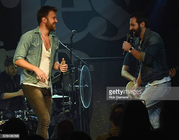 Charles Kelley and brother Josh Kelley Perform during Charles Kelley of Lady Antebellum Special Performance on May 4 2016 in Nashville Tennessee