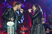 Charles Kelley and Hillary Scott of Lady Antebellum perform during The Grand Ole Opry at CRS 2015 on February 25 2015 in Nashville Tennessee