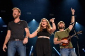 Charles Kelley Hillary Scott and Dave Haywood of Lady Antebellum perform onstage at the 2014 CMA Festival on June 8 2014 in Nashville Tennessee