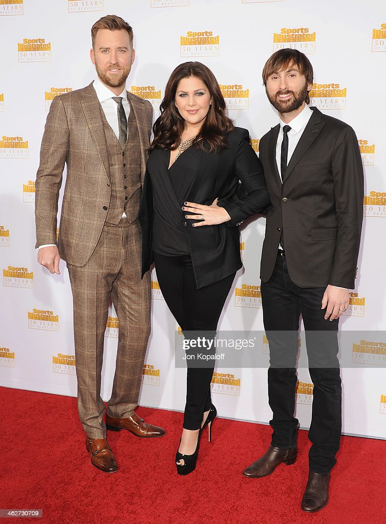 <a gi-track='captionPersonalityLinkClicked' href=/galleries/search?phrase=Charles+Kelley&family=editorial&specificpeople=3935435 ng-click='$event.stopPropagation()'>Charles Kelley</a>, Hillary Scott and <a gi-track='captionPersonalityLinkClicked' href=/galleries/search?phrase=Dave+Haywood&family=editorial&specificpeople=4620526 ng-click='$event.stopPropagation()'>Dave Haywood</a> of Lady Antebellum arrive at NBC And Time Inc. Celebrate 50th Anniversary Of Sports Illustrated Swimsuit Issue at Dolby Theatre on January 14, 2014 in Hollywood, California.