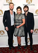 Charles Kelley Hillary Scott and Dave Haywood of Lady Antebellum arrive at the GRAMMYs On The Hill 2014 at The Hamilton on April 2 2014 in Washington...
