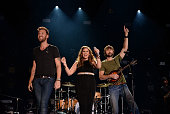 Charles Kelley Hillary Scott and Dave Haywood of Lady Antebellum perform during the 2014 CMA Festival at LP Field on June 8 2014 in Nashville...