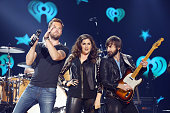Charles Kelley Hillary Scott and Dave Haywood of Lady Antebellum perform onstage during iHeartRadio Country Festival in Austin at The Frank Erwin...