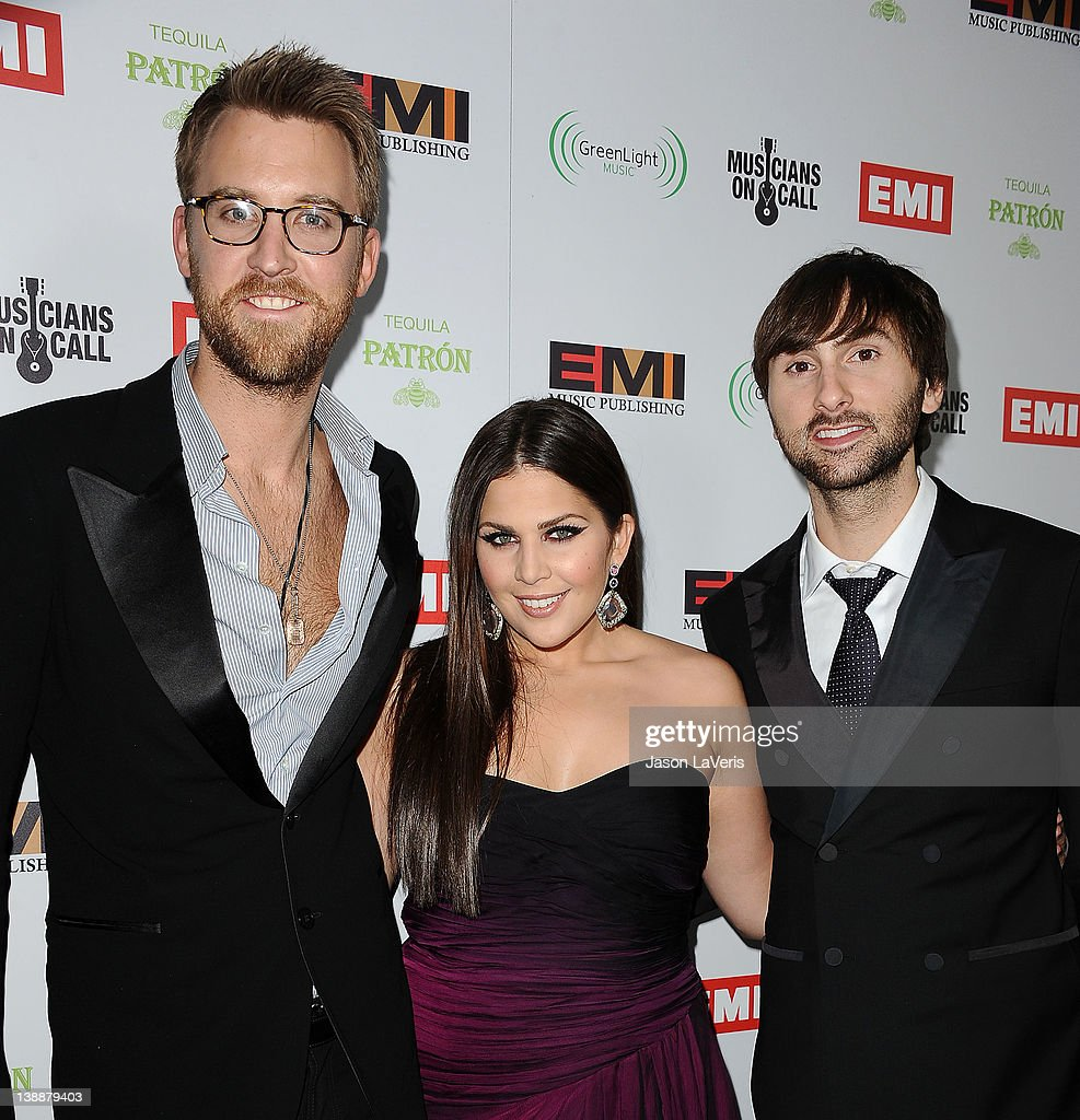 <a gi-track='captionPersonalityLinkClicked' href=/galleries/search?phrase=Charles+Kelley&family=editorial&specificpeople=3935435 ng-click='$event.stopPropagation()'>Charles Kelley</a>, Hillary Scott and <a gi-track='captionPersonalityLinkClicked' href=/galleries/search?phrase=Dave+Haywood&family=editorial&specificpeople=4620526 ng-click='$event.stopPropagation()'>Dave Haywood</a> of Lady Antebellum attend the EMI Grammy after party on February 12, 2012 in Hollywood, California.