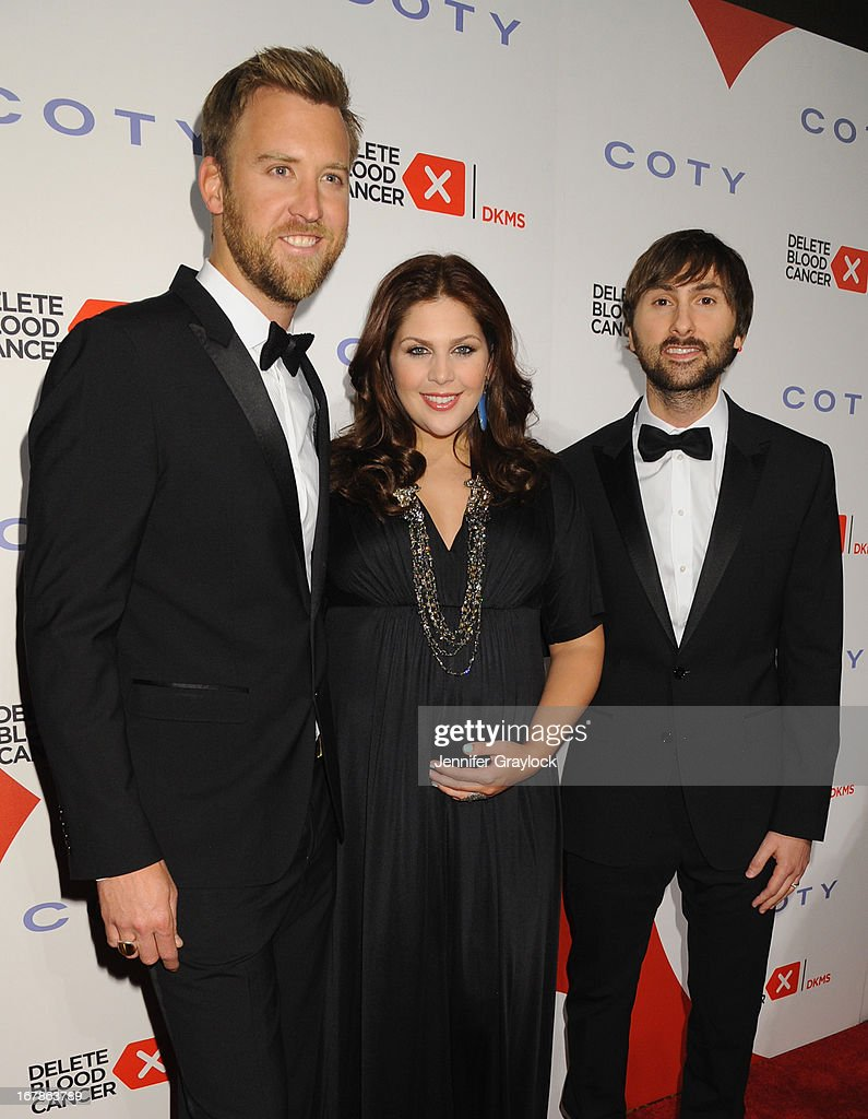 <a gi-track='captionPersonalityLinkClicked' href=/galleries/search?phrase=Charles+Kelley&family=editorial&specificpeople=3935435 ng-click='$event.stopPropagation()'>Charles Kelley</a>, Hillary Scott and <a gi-track='captionPersonalityLinkClicked' href=/galleries/search?phrase=Dave+Haywood&family=editorial&specificpeople=4620526 ng-click='$event.stopPropagation()'>Dave Haywood</a> of Lady Antebellum attend the 2013 Delete Blood Cancer Gala which honors Vera Wang, Leighton Meester and Suzi Weiss-Fischmann on May 1, 2013 in New York City.