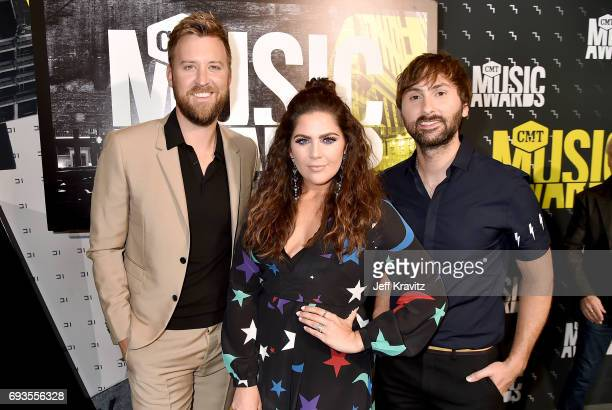 Charles Kelley Hillary Scott and Dave Haywood of Lady Antebellum attend the 2017 CMT Music Awards at the Music City Center on June 7 2017 in...